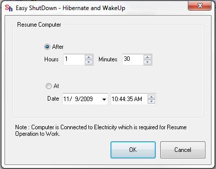 Hibernate and Wake Up