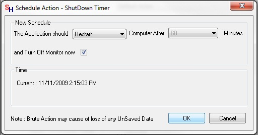 Shut Down Timer to Restart Computer