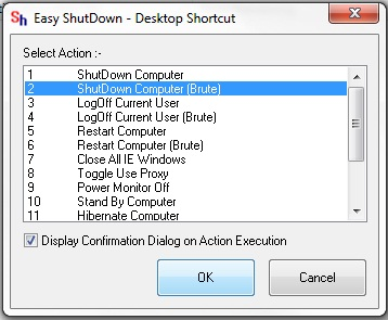 Shut Down Computer Brute Shortcut