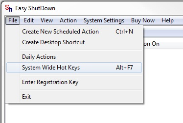 System Wide Hot Keys