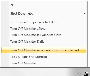 Turn Off Monitor Whenever Computer Locked