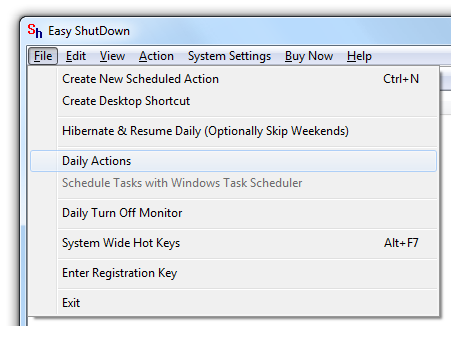 Shutdown Windows Computer Daily at configured Time