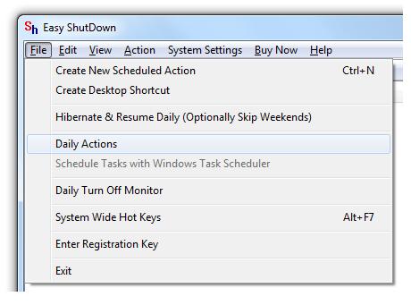 Shutdown Windows Computer Daily at configured Time
