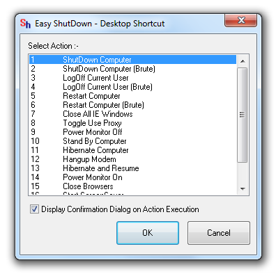 Shutdown Windows Desktop Shortcut