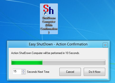 Shutdown a Windows 8 Computer with Desktop Shortcut