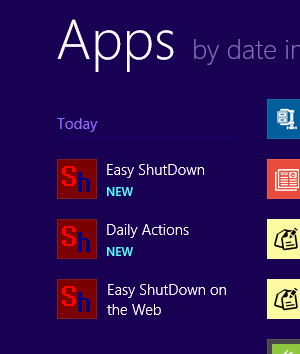 Auto Shutdown Software in Windows 8 Start Menu